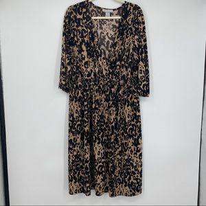 Chelsea studio dress cheetah animal print plus 24